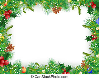 Christmas and New Year Frame