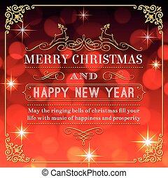 Musical christmas tree a nice christmas greeting card with christmas and new year greetings m4hsunfo