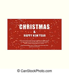 Christmas and New year greetings typographic card