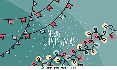 Christmas and New Year hand drawn doodle vector illustration with dog