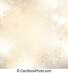Christmas and New Year Holiday Abstract Golden Snowflake Background