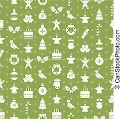 Christmas and New Year Seamless background pattern