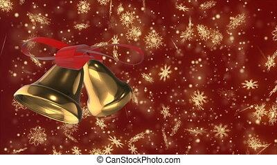Christmas and New Year seamless looping animation. Christmas...