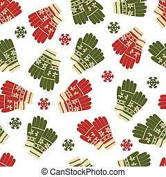Christmas and New Year seamless pattern of winter color...