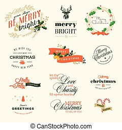 Christmas and New Year signs