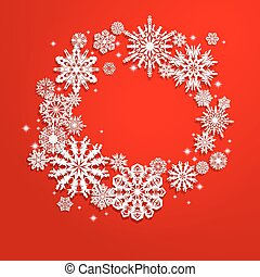 Christmas and New Years background with snowflakes