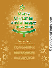 Christmas and new year's Eve card - Background with the...