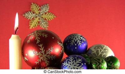 Christmas and New Years Eve decoration etude. - Burning ...