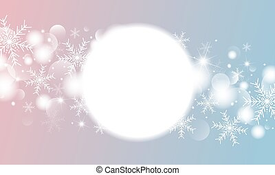 Christmas and winter banner design of snowflake with bokeh lights effect vector illustration