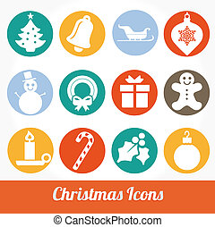 Christmas and Winter icons vector - Christmas and Winter...