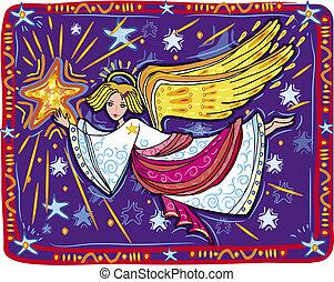 Christmas angel and star