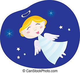Christmas angel boy