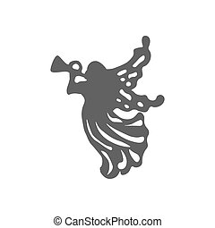 Christmas Angel icon on the white background. Vector...
