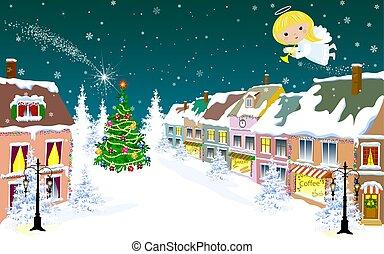 Christmas Angel in the sky on Christmas Eve 1