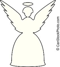 Christmas angel line icon vector eps 10