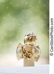 Christmas Angel with light backgrou