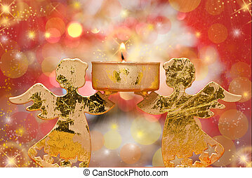 christmas angels candle