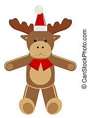 Christmas animal. Deer. Cartoon vector illustration
