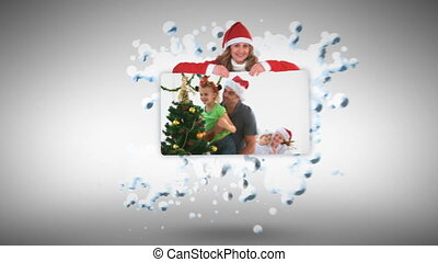Christmas animation with children