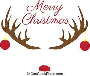 Christmas Antlers with Red Nose
