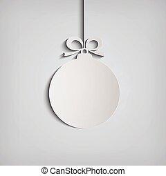 Christmas applique ball. Eps10 vector icon.