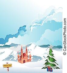 Christmas at the North Pole - North Pole Christmas mountain ...