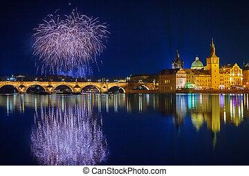 Christmas atmosphere in Prague, Czech Republic - Christmas...