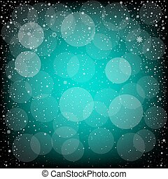 Christmas azure snow bokeh