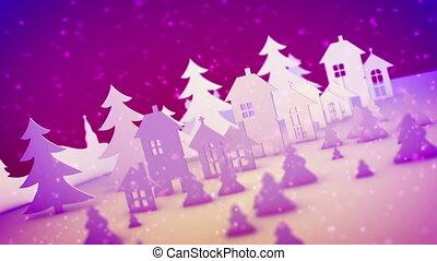 """""""christmas, backdrop"""", bâtiments, jouet, rose"""