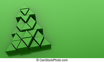 Christmas background - 3d illustration of green background...