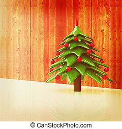 Christmas background. 3d illustration. Vintage style.