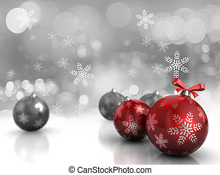 Christmas background - Abstract 3d illustration of ...