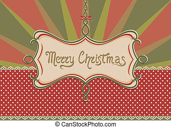 Christmas background and frame