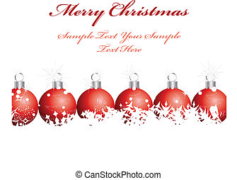christmas background - Beautiful vector Christmas (New Year...