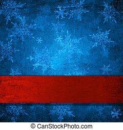 Christmas background - Blue christmas background with...