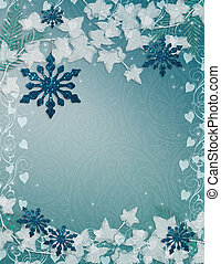 Christmas background Blue sparkle