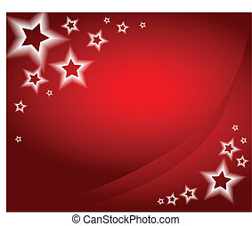 Christmas background / card - Red christmas background /...