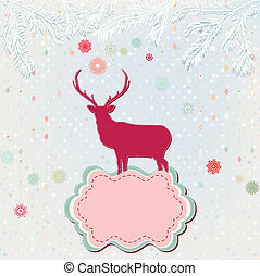 Christmas background card template. EPS 8