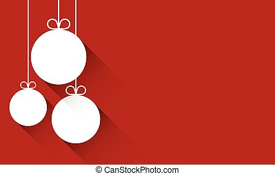 Christmas background with balls. Vector Illustration.