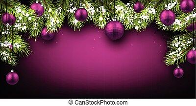 Christmas background. - Christmas background with fir ...