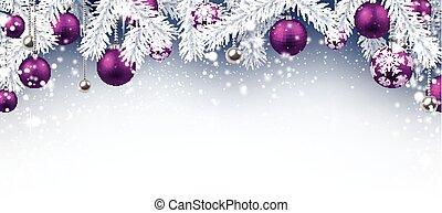 Christmas background. - Christmas background with purple...
