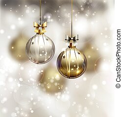 Christmas background -  Christmas gray gold background
