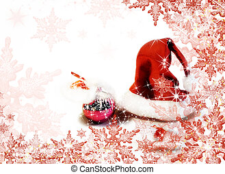 Christmas background - Christmas red and white background...