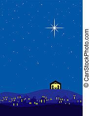 Christmas background - Bethlehem christmas background