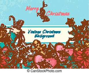 Christmas background colored