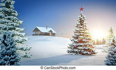 christmas background - computer generated background image...