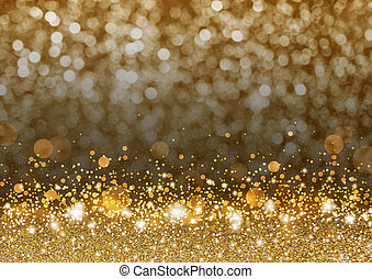 Christmas background concept design of gold gitter and shiny