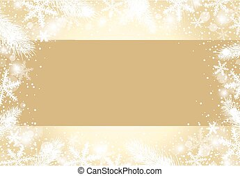 Christmas background concept design of white snowflake and fir branch with copy space vector illustration