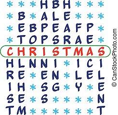 Christmas background - crossword puzzle