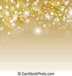 Christmas background design of bokeh light and snowflake